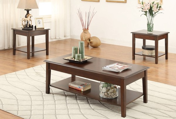 Homeroots Brown 3pc Occasional Table Set OCN-315316