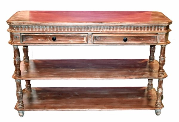 Homeroots Brown Wood Console Table OCN-315447
