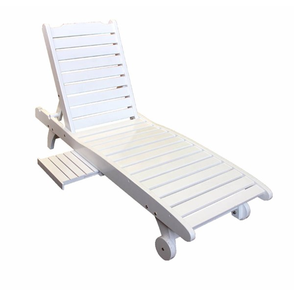 Homeroots White Wood Relaxing Chaise OCN-315865