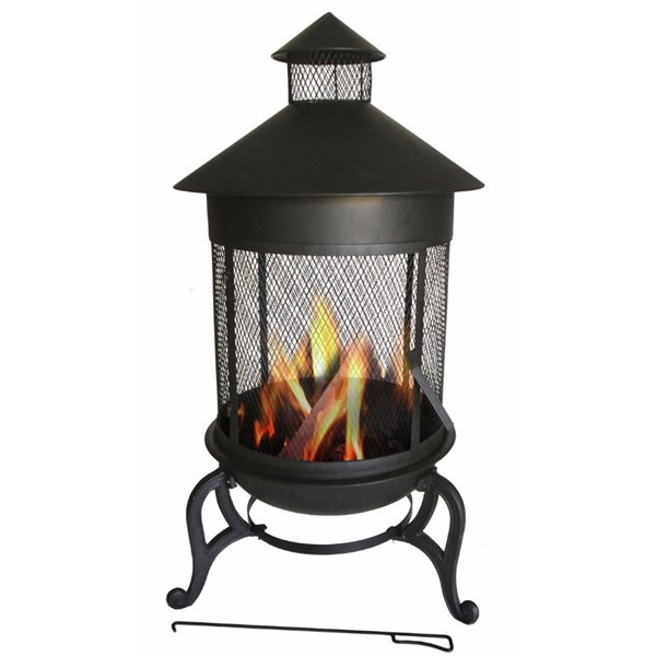 HomeRoots Black Steaming Round Fire Pit OCN-315932