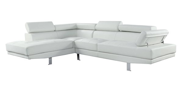 Homeroots Cream Leatherette Sectional Sofas OCN-318822-SEC-VAR