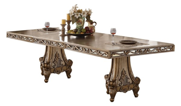 Homeroots Antique Gold Dining Table OCN-318891