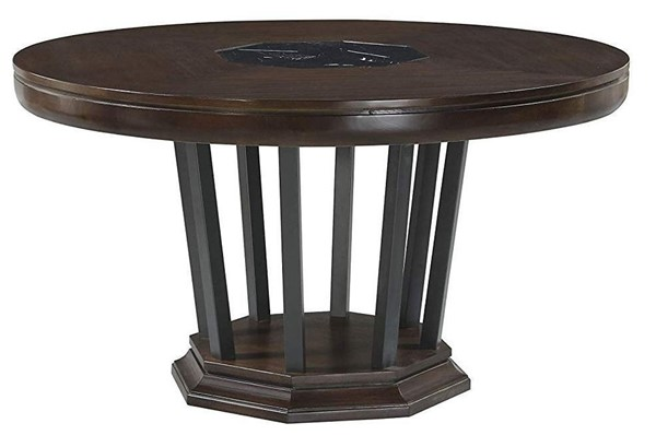 Homeroots Tobacco Marble Top Round Dining Table OCN-318894
