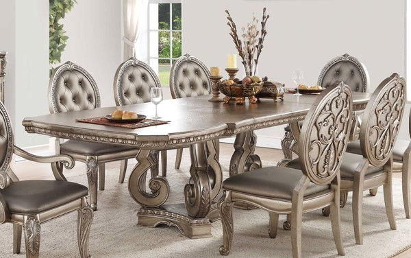 Homeroots Antique Champagne Dining Table OCN-318905