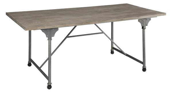 Homeroots Sandy Gray Round Dining Table OCN-318918