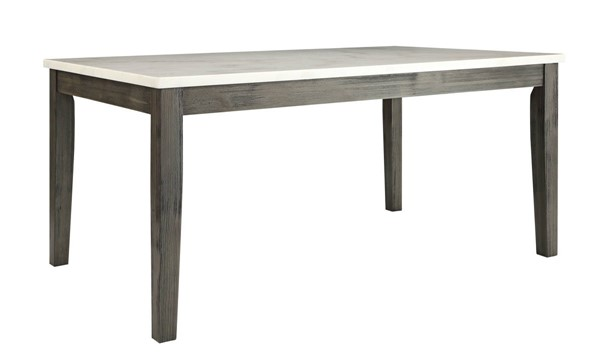 Homeroots Oak Wood Marble Top Dining Table OCN-319145