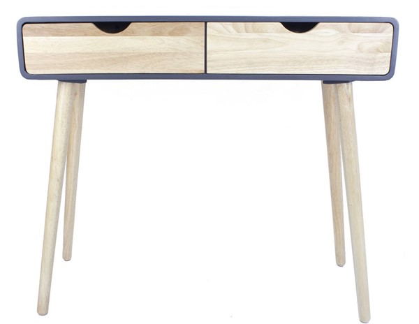 Homeroots Graphite Wood Console Table with 2 Drawers OCN-319737