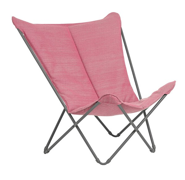 Homeroots Orchid Hedona Fabric Steel Frame Lounge Chair OCN-320568
