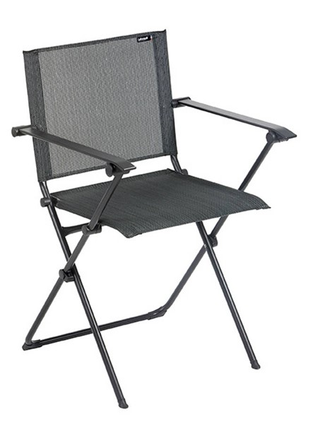 Homeroots Obsidian Duo Fabric Black Steel Folding Arm Chairs OCN-320635-FCH-VAR