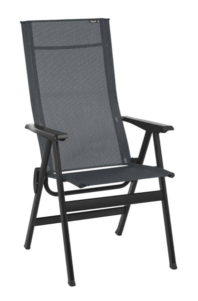 Homeroots Obsidian Duo Fabric Black Steel High Back Chair OCN-320642