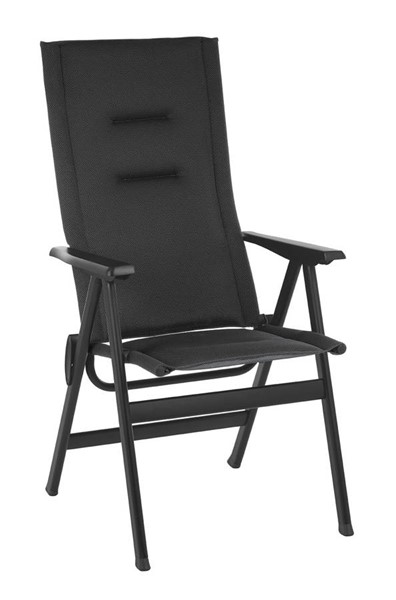 Homeroots Outremer Duo Fabric Black Steel High Back Chair OCN-320644