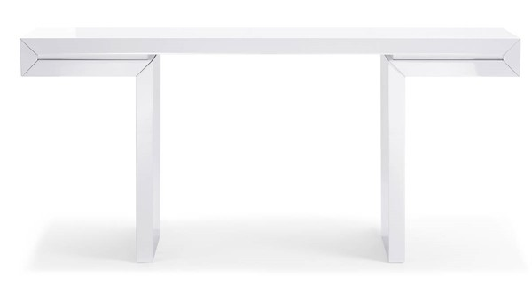 Homeroots White High Gloss Lacquer Console OCN-320716