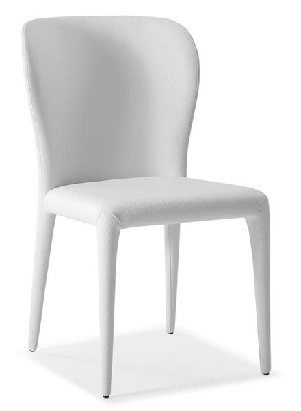 2 Homeroots White Faux Leather Dining Chairs OCN-320748