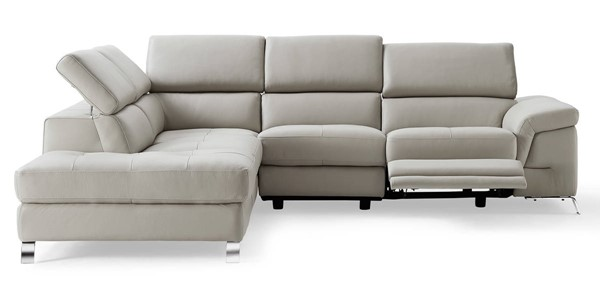 Homeroots Light Gray Leather LAF Sectional OCN-320860