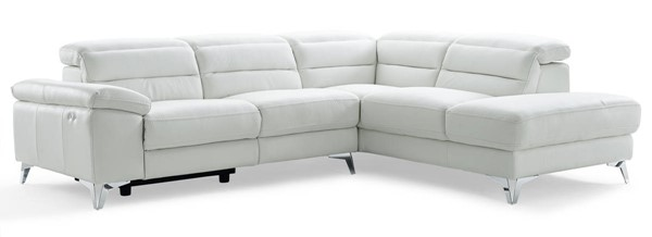 Homeroots White Leather RAF Sectional OCN-320882