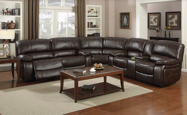 HomeRoots Dark Brown Fabric Flexible and Comfortable 3pc Sectional OCN-321427
