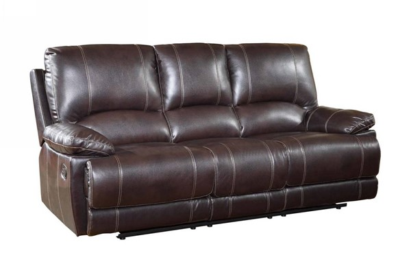 HomeRoots Brown Leather Stylish Sofa OCN-329407