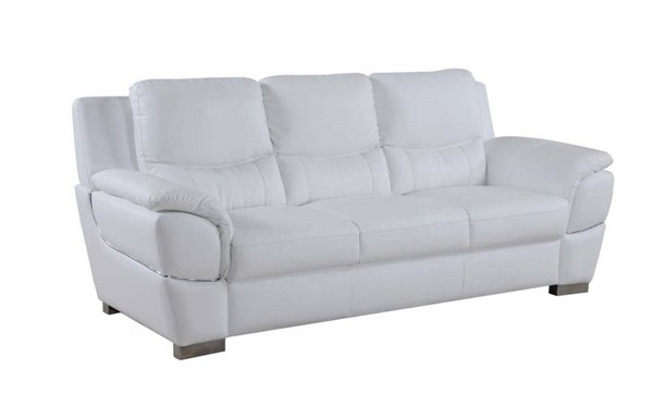 HomeRoots Modern White Leather Chic Sofa OCN-329479