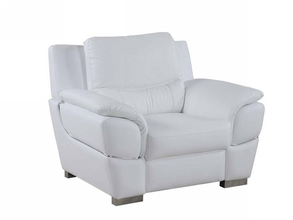 HomeRoots Modern White Leather Chic Chair OCN-329481