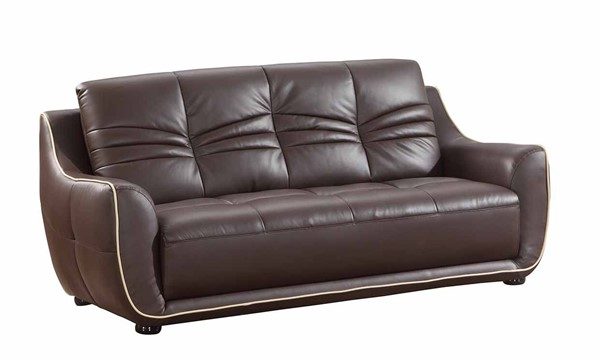 HomeRoots Brown Leather Elegant Sofas OCN-32950-SF-VAR