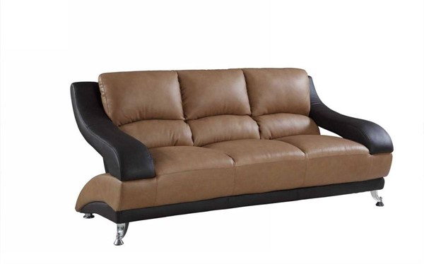 HomeRoots Two Tone Leather Dazzling Sofa OCN-329531
