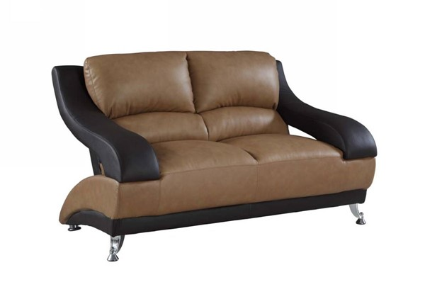 HomeRoots Two Tone Leather Dazzling Loveseat OCN-329532