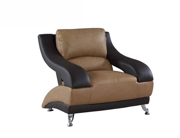 HomeRoots Two Tone Leather Dazzling Chair OCN-329533