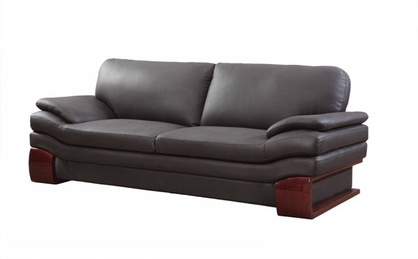 HomeRoots Brown Leather Dazzling Sofa OCN-329535