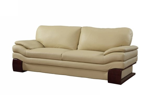 HomeRoots Beige Leather Dazzling Sofa OCN-329539