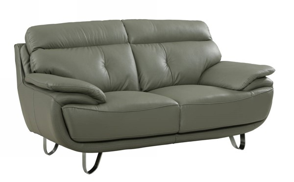 HomeRoots Gray Leather Fascinating Loveseat OCN-329551