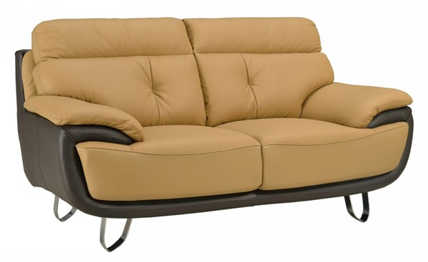 HomeRoots Two Tone Leather Fascinating Loveseat OCN-329555