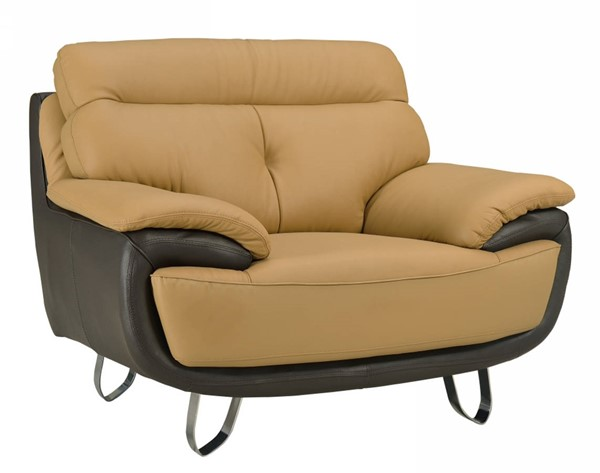 HomeRoots Two Tone Leather Fascinating Chair OCN-329556