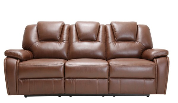 HomeRoots Contemporary Brown Leather Sofas OCN-32969-SF-VAR