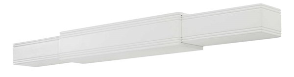 Homeroots White MDF 48 to 80 Inch Mantel Shelf OCN-332382