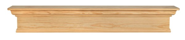 Homeroots Classic Unfinished Pine Wood 60 Inch Mantel Shelf OCN-332410