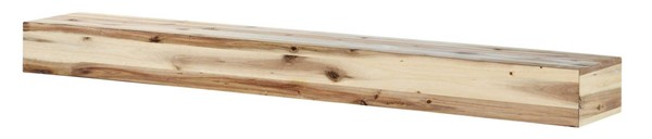 Homeroots Natural Wood 72 Inch Mantel Shelf OCN-332423
