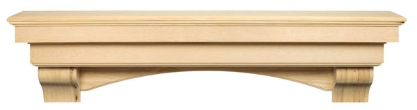 Homeroots Contemporary Unfinished Wood 60 Inch Mantel Shelf OCN-332427
