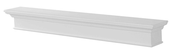Homeroots Modern White MDF 72 Inch Mantel Shelf OCN-332455