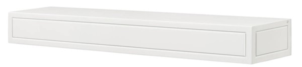 Homeroots Contemporary White MDF 60 Inch Mantel Shelf OCN-332459