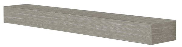 Homeroots Gray Fiberglass Cement Aggregate 60 Inch Non Combustible Mantel Shelf OCN-332480