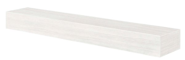 Homeroots White Fiberglass Cement Aggregate 72 Inch Non Combustible Mantel Shelf OCN-332483