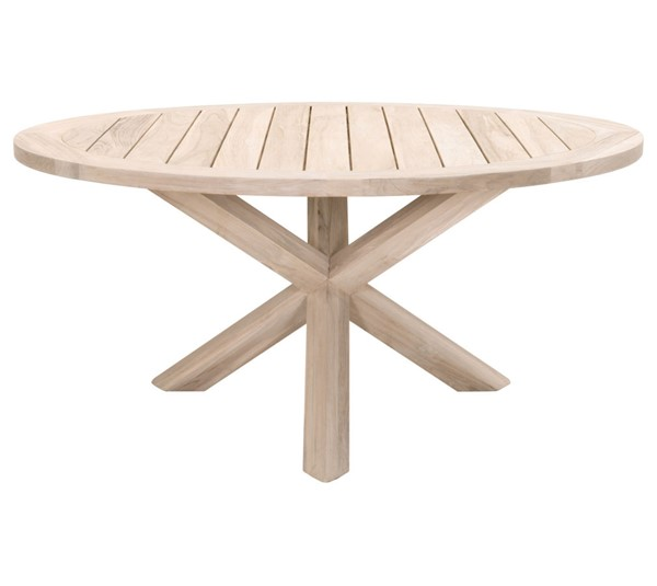 Orient Express Boca Gray 63 Inch Round Outdoor Dining Table OEF-6829-GT