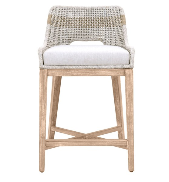 Orient Express Tapestry Taupe White, Orient Express Furniture Loom Counter Stool