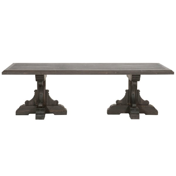 Orient Express Bastille Black Wash Rectangular Dining Table OEF-8078-BW-PNE