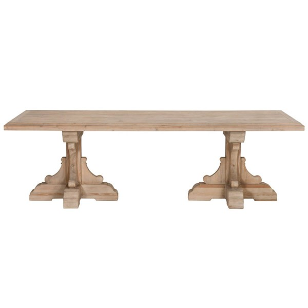 Orient Express Bastille Smoke Gray Rectangular Dining Table OEF-8078-SGRY-PNE