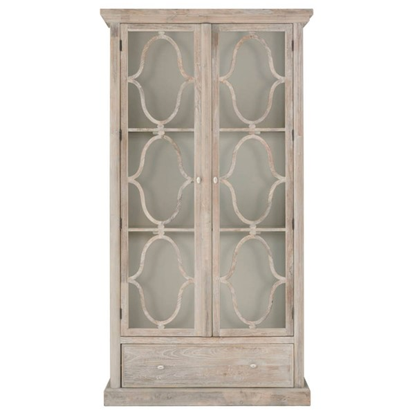 Orient Express Bourges Cream Display Cabinet OEF-8056-D-CRM-ELM