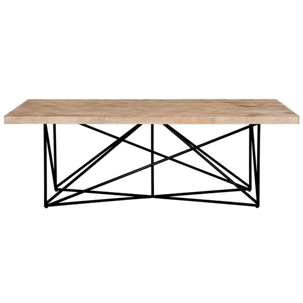 Orient Express Canvas Smoke Gray Dining Table OEF-8044-RWST-SGRY-PNE