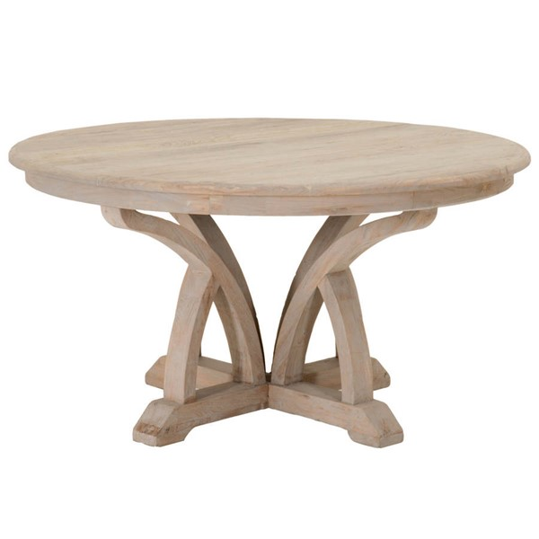 Orient Express Carnegie Smoke Gray 60 Inch Round Dining Table OEF-8041KD-SGRY-ELM