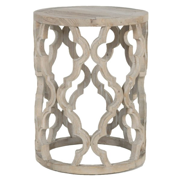 Orient Express Clover Smoke Gray End Table OEF-8028-SGRY-ELM