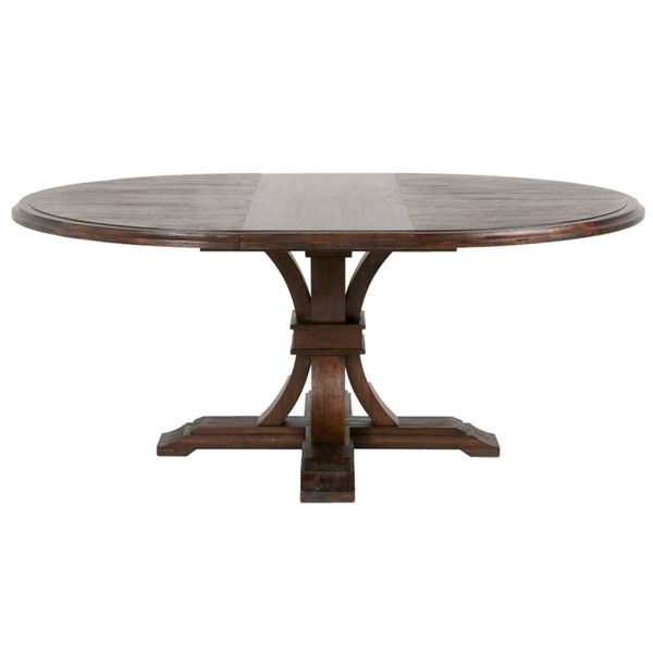 Orient Express Devon Rustic Java 54 Inch Round Extension Dining Tables OEF-6070-DT-VAR